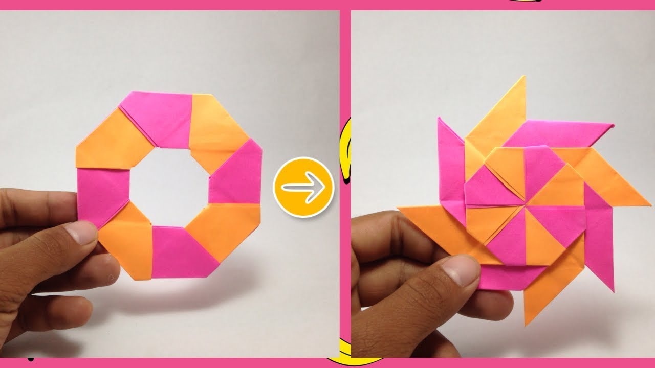 Modular Origami 8-pointed Ninja Star Folding Instructions | 720x1280