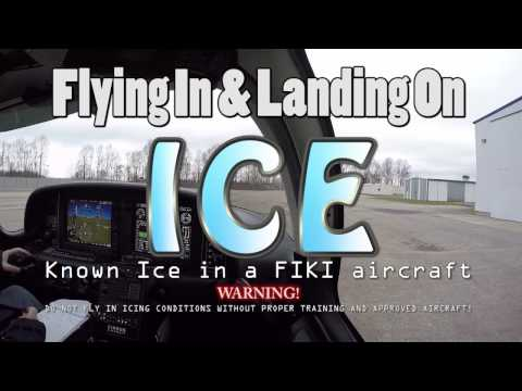 IFR Known Icing - Flight In & Landing On ICE. FIKI Cirrus SR22T - Full Flight with ATC Audio