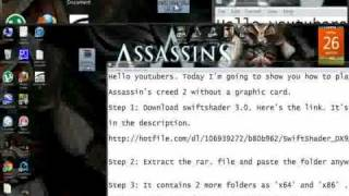 How to play Assassin's creed 2 using swiftshader