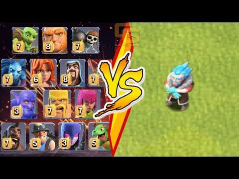 ALL TROOPS vs. ICE WIZARD (Clashmas Update 2017) Christmas Special | Clash Of Clans