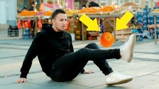 Neverovatni fudbalski trikovi voćem | DJOTAFREESTYLE