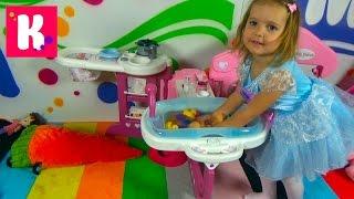 Детская кухня спальня и ванная распаковка большого набора Baby Nurse unboxing big toys