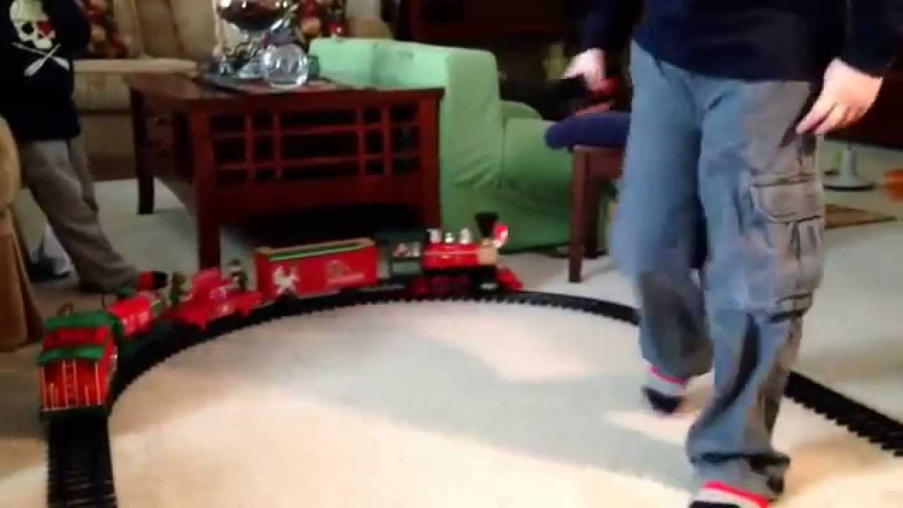 north pole express train set by eztec youtube - North Pole Junction Christmas Train