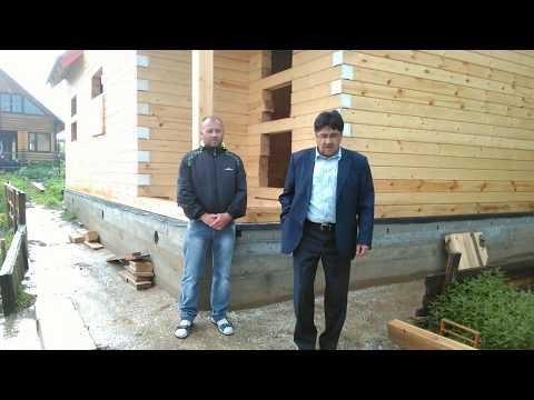 Дом из бруса 7х9 по проекту ДБ-055. Видео-отзыв. Костромские Дома.