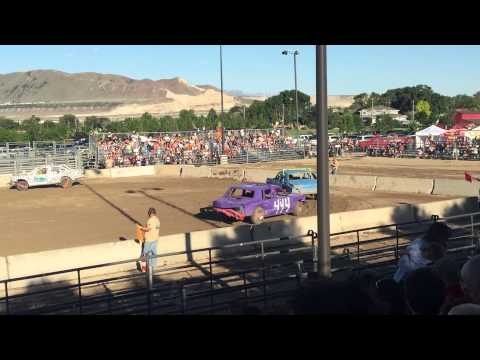 Bluffdale Utah Demolition Derby Heat 1
