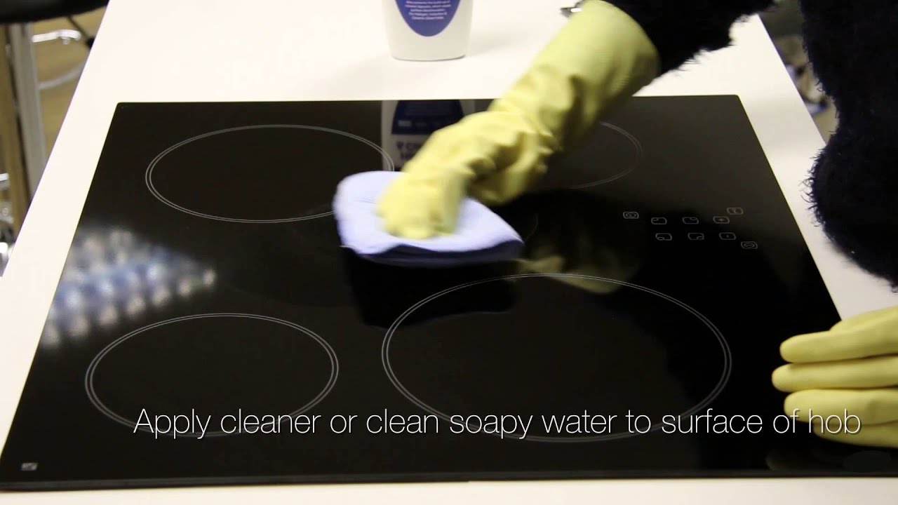 how to clean your ceramic or induction hob