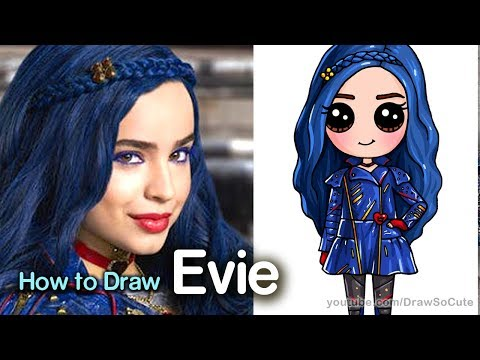 How to Draw Evie | Disney Descendants 2