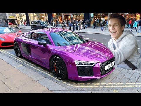 PUBLIC REACTION TO MY CHROME AUDI R8!!