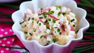 Салат с крабовыми палочками - облегченный, вкусно!