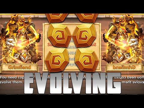 Castle Clash Evolving Grimfiend! And Power Leveling!