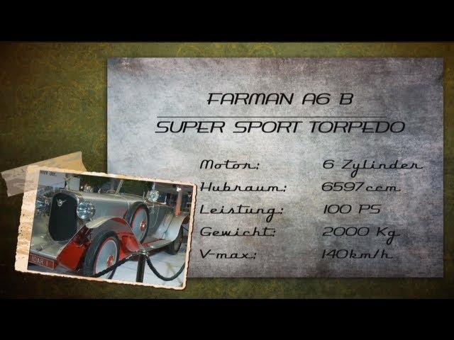 Farman A6 B Super Sport Torpedo Oldtimer