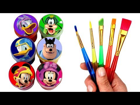 Mickey and the Roadster Racers Drawing & Painting with Surprise Toys Hot Rod Minnie Daisy Car Toys