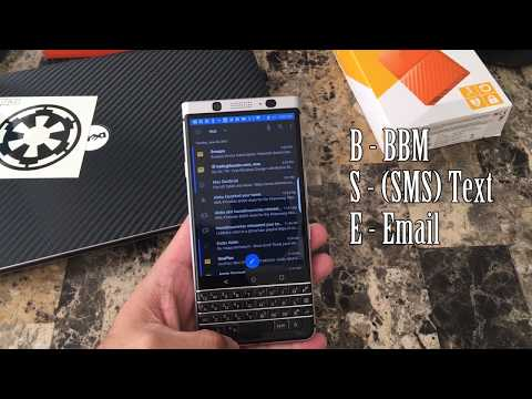 Day 4 - BlackBerry KEYone - HUB shortcuts, color changes and more!