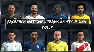 PES 2013 🌎 · NATIONAL FACEPACK VOL.7 STYLE 2018 HD