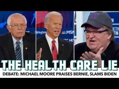 Michael Moore Praises Bernie, Slams Biden's Healthcare Lie