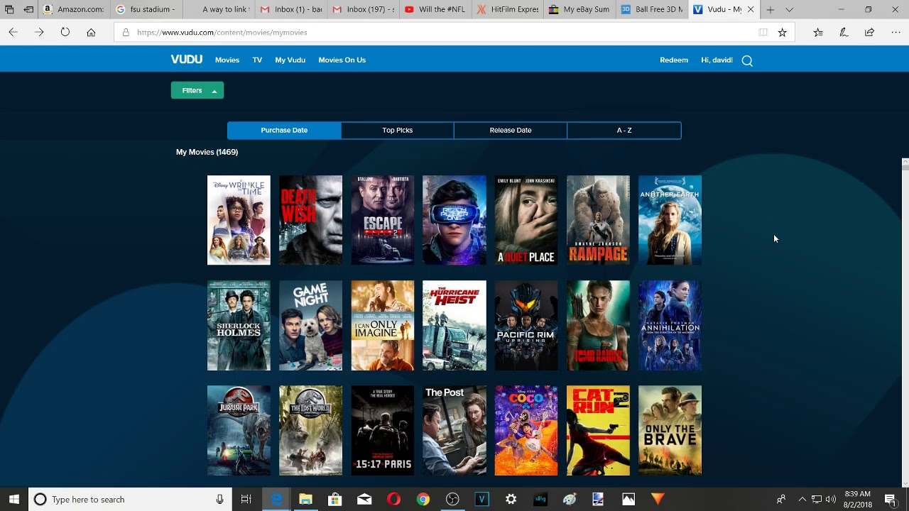 Download Close to 1500!  My complete Vudu digital movie collection 4k uhd hdx sd
