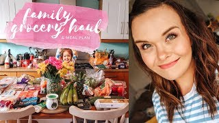 FAMILY GROCERY HAUL & MEAL PLAN  - 2-IN-1 - EASTER HOLIDAY MEALS - APRIL 2019