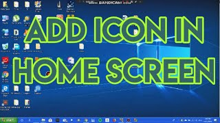Desktop How icons on to get