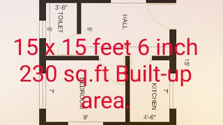 15 X 15 Feet 6 Inch Small House Plan | Small House Plan