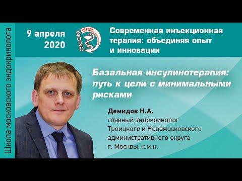 Базальная инсулинотерапия: путь к цели с минимальными рисками. Демидов Н.А.
