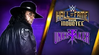 Zapętlaj The Undertaker joins the WWE Hall of Fame Class of 2018 | Vincenzo Fusco