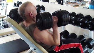 Жим гантелей на регулируемой скамье. Упражнение для плеч(У нас Вы можете заказать индивидуальную программу тренировок и питания по интернету: http://atletizm.com.ua/personalnyj-trene..., 2016-08-09T13:54:16.000Z)