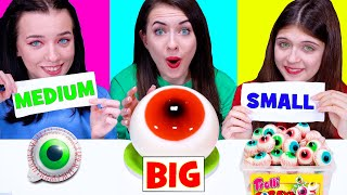 ASMR Big, Medium and Small Plate Challenge by LiliBu #2