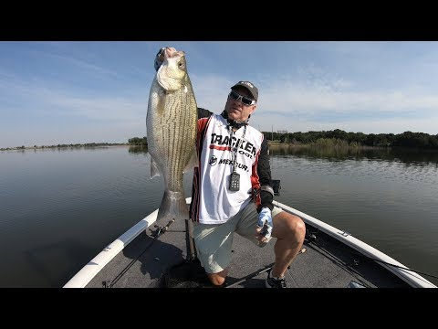 FOX Sports Outdoors SouthWEST #24 Lake Carl Blackwell, Oklahoma Hybrid Striper Fishing