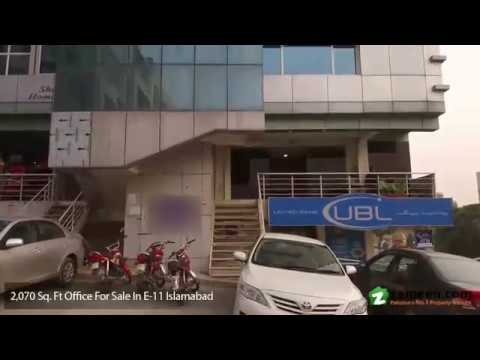 2,070 Sq. Ft. OFFICE AVAILABLE FOR SALE IN E-11 ISLAMABAD