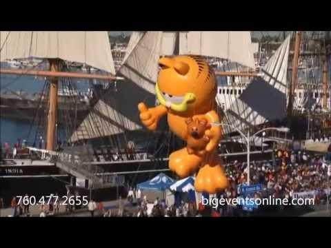 Giant Helium Parade Balloons, Garfield Parade Balloon 30 Foot