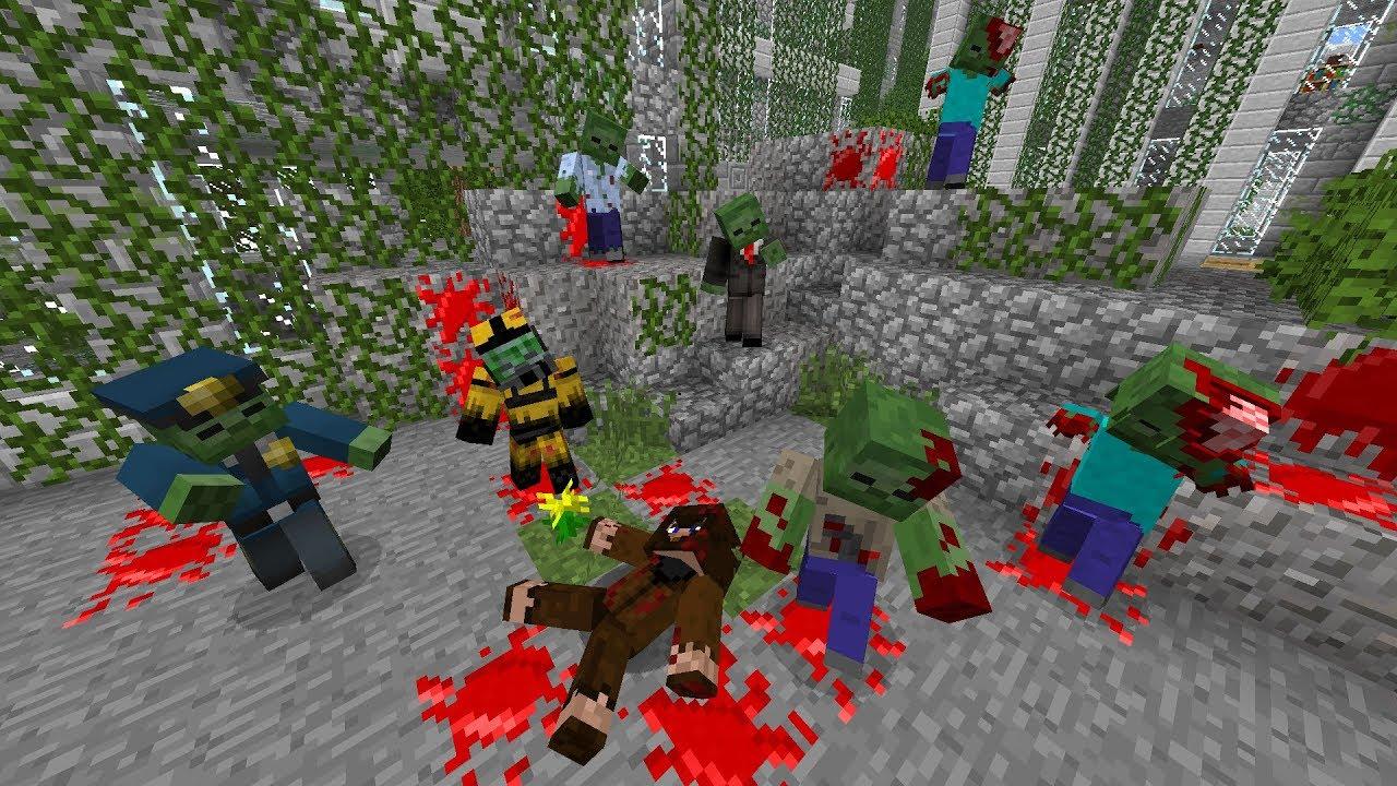 смотреть зомби апокалипсис в майнкрафт #4