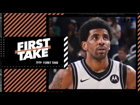 First Take reacts to Sean Marks saying Kyrie can't rejoin Nets until he can be a 'full participant'