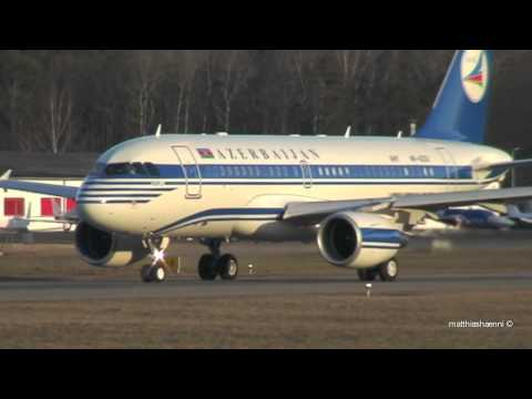 Full power take off Azerbaijan A319 in Berne! Top Highlight!!!