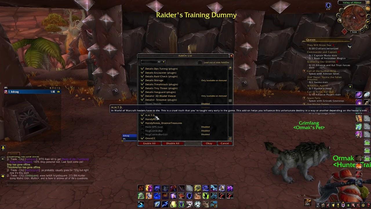 Best Addons I Use For World Of Warcraft Bfa 8 0 1 Youtube