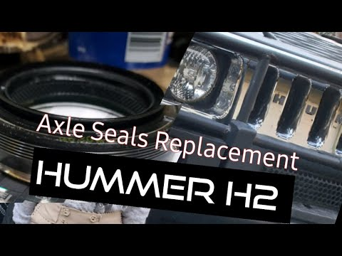 Hummer H2 Chevy truck front differential axle seal fix repair replacement