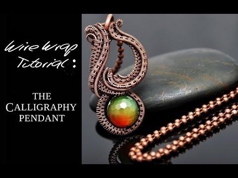 Wire wrap tutorial calligraphy pendant youtube wire wrap tutorial calligraphy pendant aloadofball