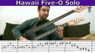 Guitar Guitar Tutorial: Hawaii Five-O - Solo w/ TAB