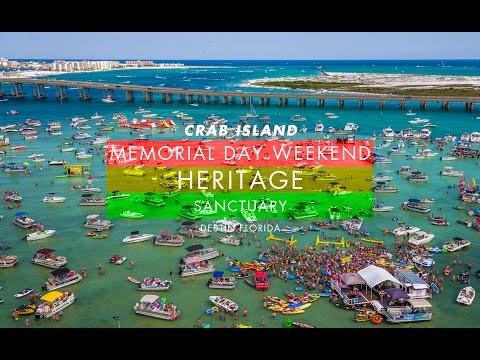 Heritage : Sanctuary : Crab Island Memorial Day 2016 : Sky Pro Imaging
