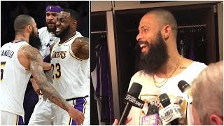 Tyson Chandler finds out in the locker room what LeBron said to him after the game winning block