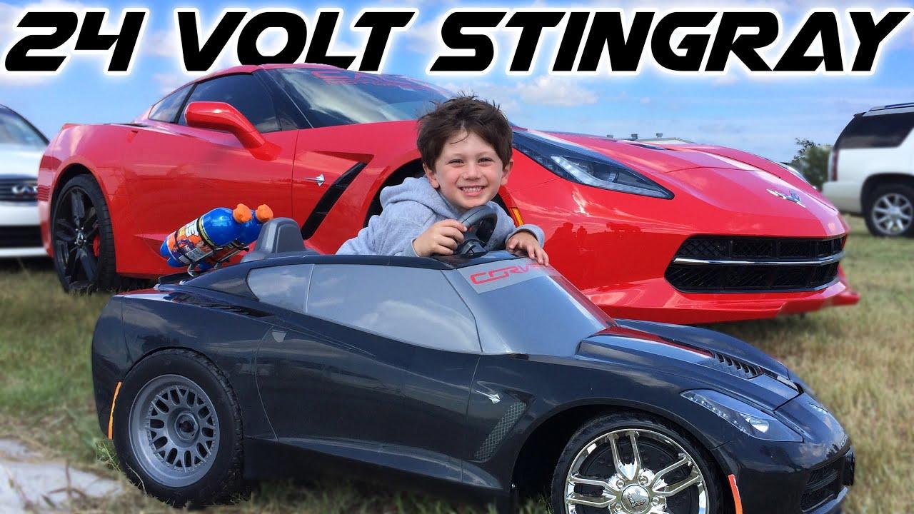 C7 Stingray Corvette Owner In Training 24v Powerwheels