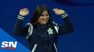 U.S. Open Champion Bianca Andreescu Drops Puck At Maple Leafs, Bruins Game