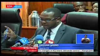 Sports CS Hassan Wario faces the Senate over money spent in Rio Olympics 2016