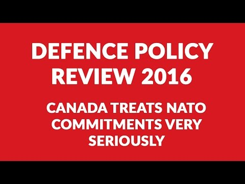 Canada treats NATO commitments very seriously, Borys Wrzesnewskyj, Defence Policy Review 2016