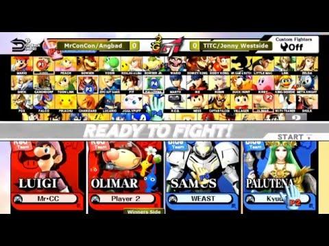 2GGT: ESAM Saga - Mr. ConCon/Angbad (Red) Vs. TLTC/Jonny Westside (Blue) Winners Side - Smash Wii U