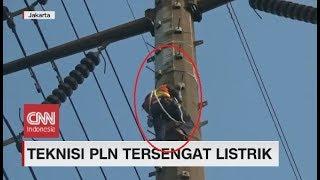 Teknisi PLN Tersengat Listrik di Ketinggian 30 Meter