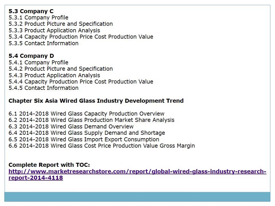 Global Wired Glass Market 2014 Size, Share, Growth, Trends, Demand ...
