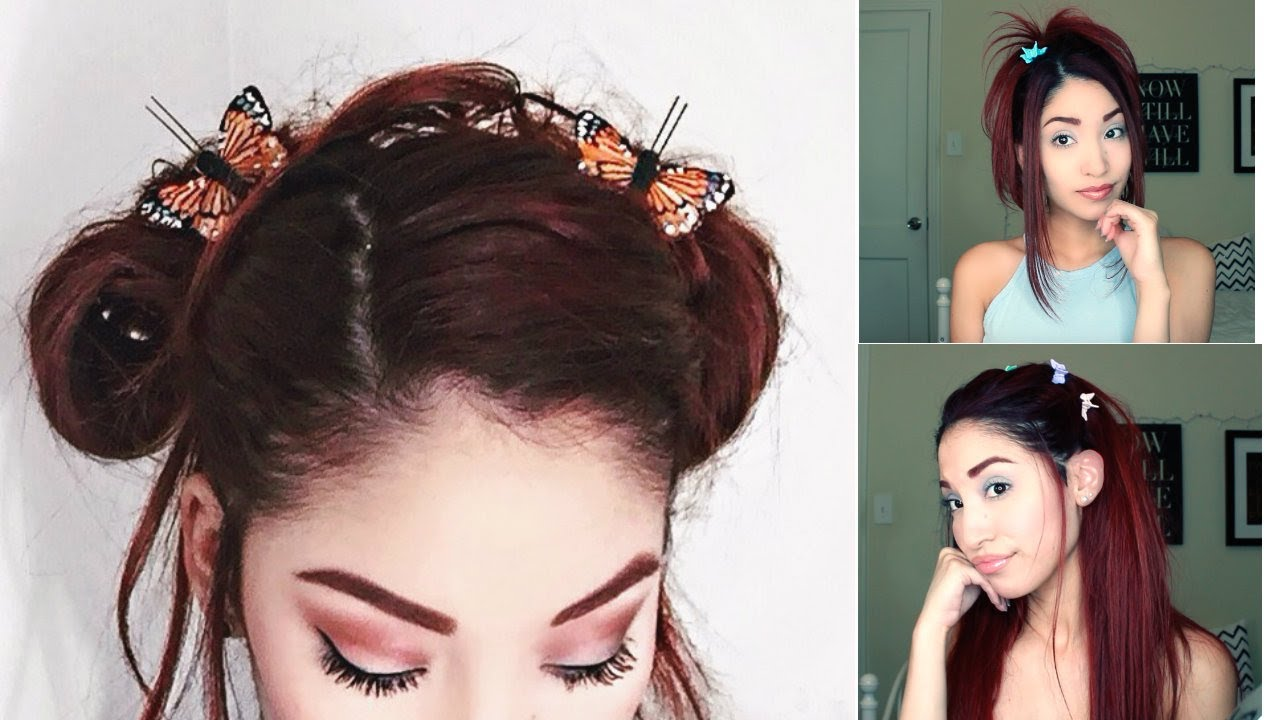 butterfly clips hairstyles early