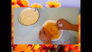 видео апельсиновая шарлотка в духовке