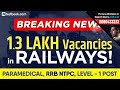 RRB NTPC Notification 2019 | 1.3 Lakh Vacancies Announced for Railways NTPC (Non Technical Posts)