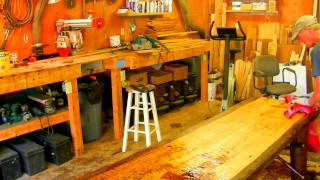 How to Make a Rustic Plank Table by Jim the Rustic Furniture Artist Part 46